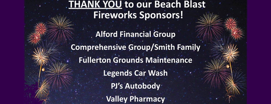 Beach Blast- Sponsors Thank You