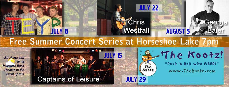 Free Summer Concerts in Roxbury NJ